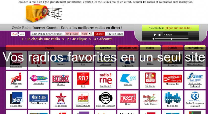 Vos radios favorites en un seul site