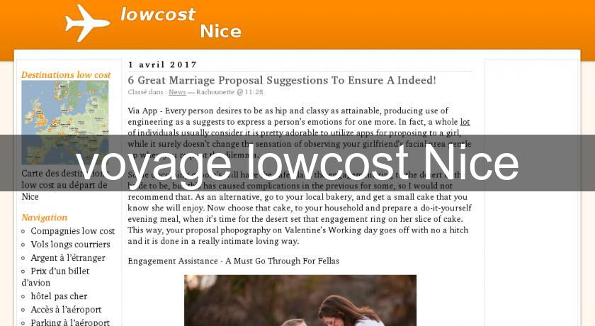 voyage lowcost Nice