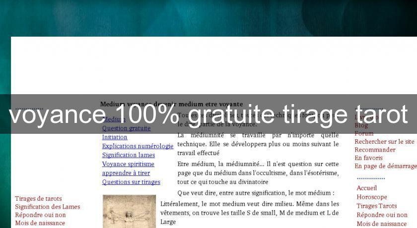 9d9fc45ac4b64 voyance 100% gratuite tirage tarot Voyance