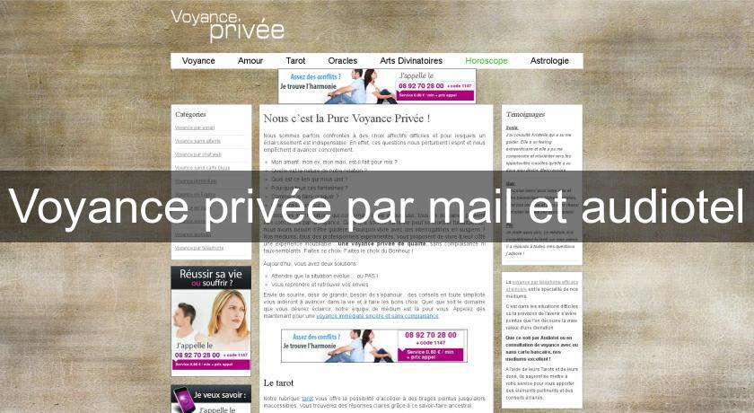 Voyance privée par mail et audiotel Voyance 85878117a1c7