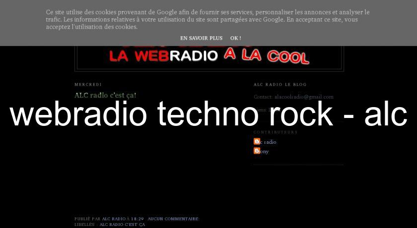 webradio techno rock - alc