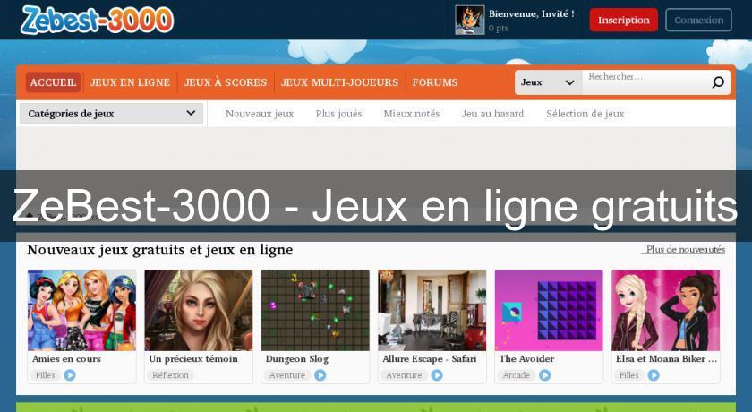 zebest 3000 jeux en ligne gratuits jeux sur internet. Black Bedroom Furniture Sets. Home Design Ideas