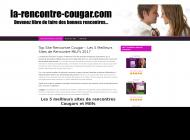 Guide sites de rencontre de Cougars