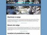 Vente et location de machine à neige artificielle