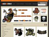 Vêtements, stickers et pin's motard