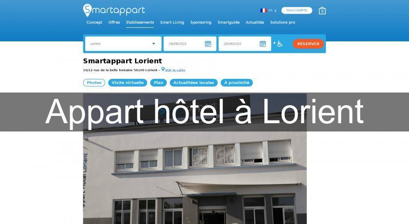 Appart h tel lorient h tel bretagne for Location appart hotel bretagne