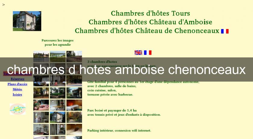 chambres d 39 hotes amboise chenonceaux h tel centre. Black Bedroom Furniture Sets. Home Design Ideas