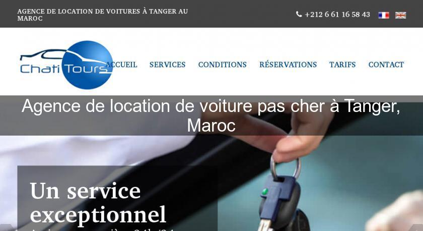 Agence de location de voiture pas cher tanger maroc for Agence de location