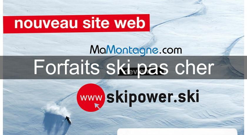 forfaits ski pas cher s jour montagne. Black Bedroom Furniture Sets. Home Design Ideas
