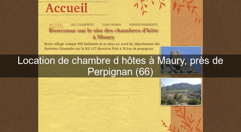 Location de chambre d 39 h tes maury pr s de perpignan 66 for Chambre d hotes perpignan