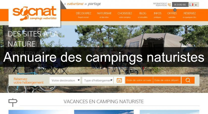 Annuaire des campings naturistes
