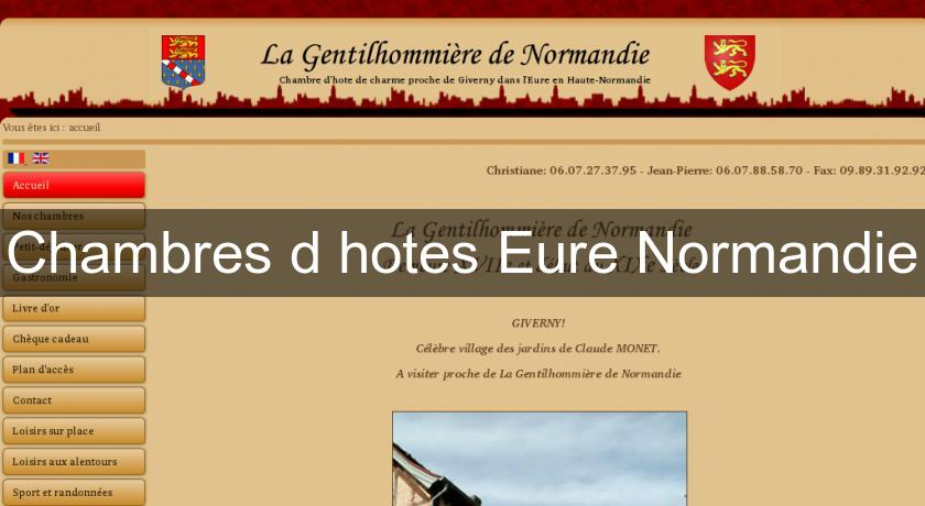 Chambres d'hotes Eure Normandie