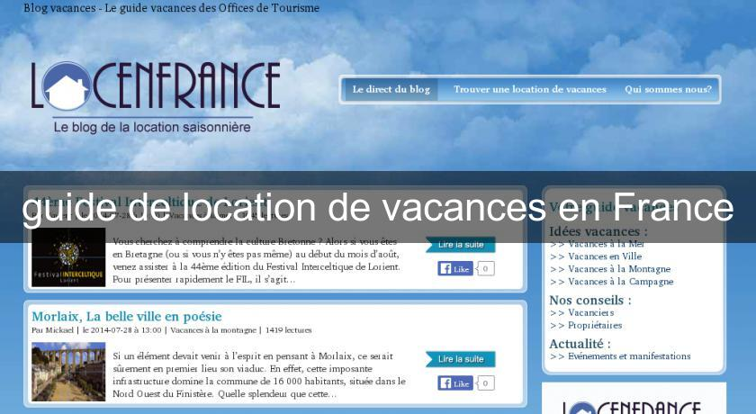 guide de location de vacances en France