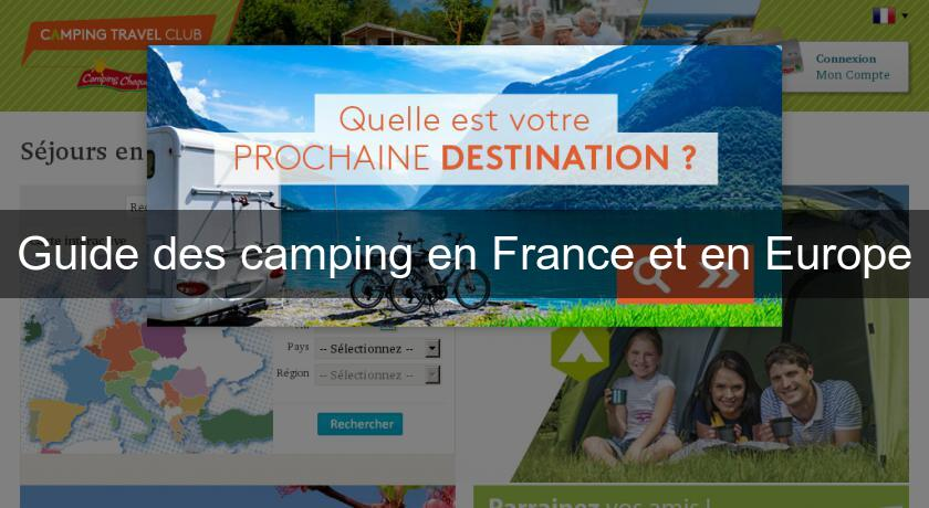 Guide des camping en France et en Europe