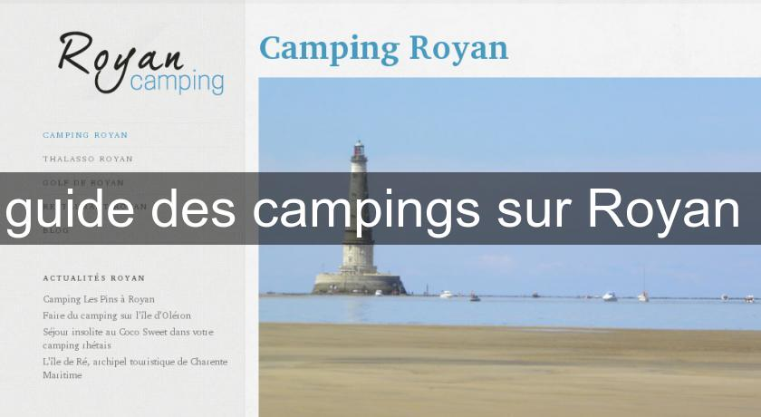 guide des campings sur Royan