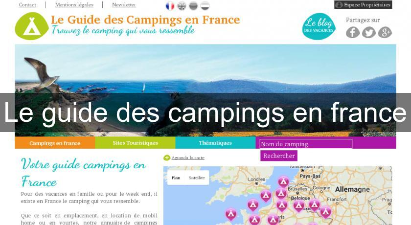 Le guide des campings en france