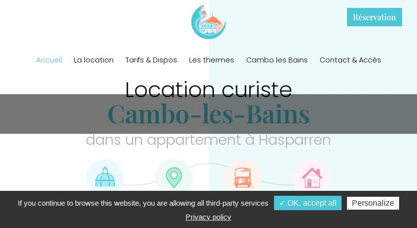 Location appartement cure Cambo Les Bains (64)
