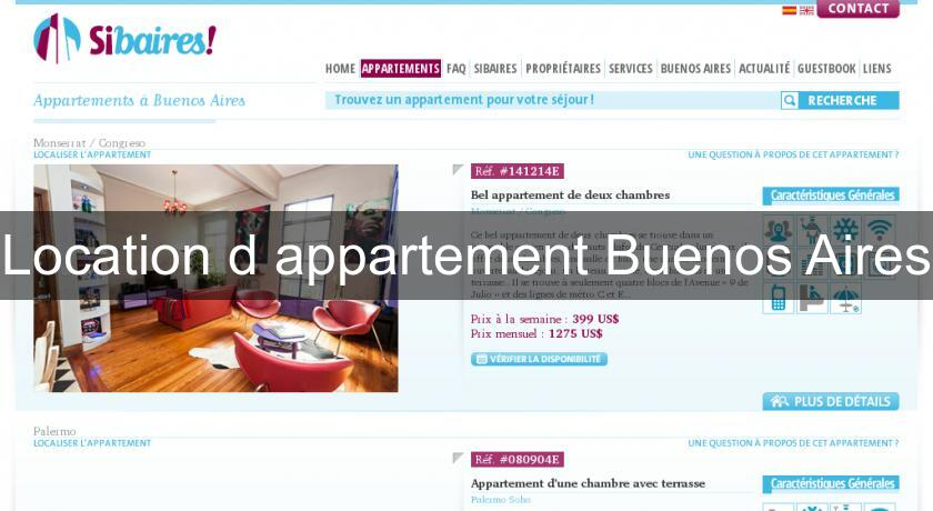 Location d'appartement Buenos Aires