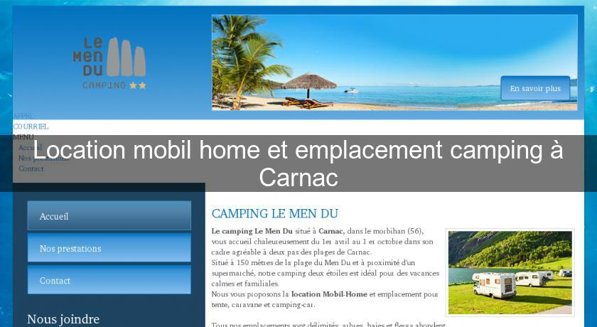 Location mobil home et emplacement camping à Carnac