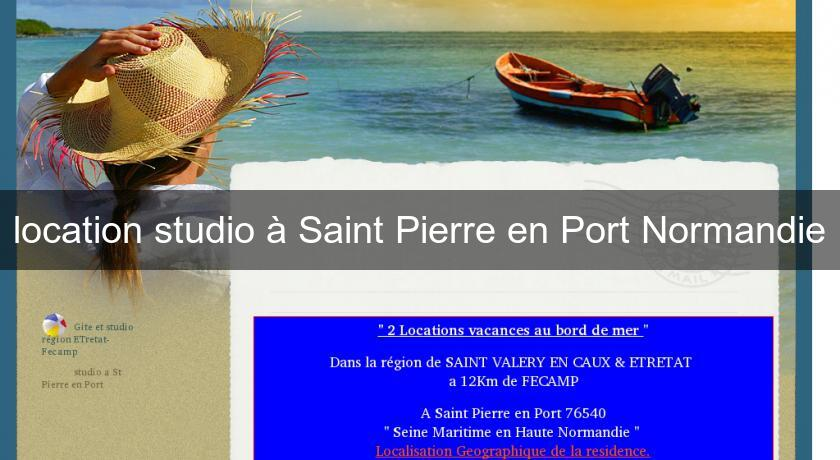 location studio à Saint Pierre en Port Normandie