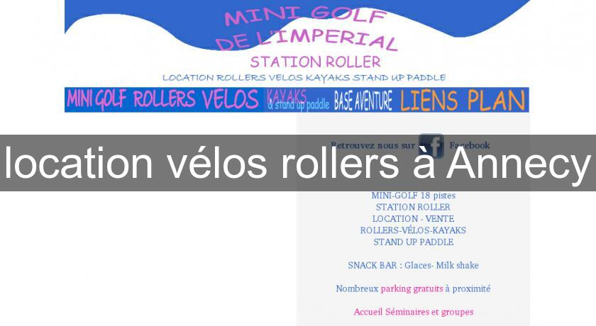 location vélos rollers à Annecy