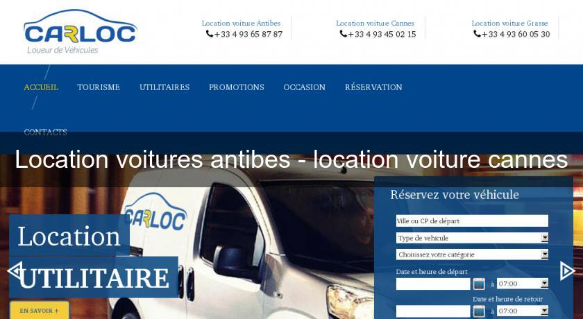 Location voitures antibes - location voiture cannes