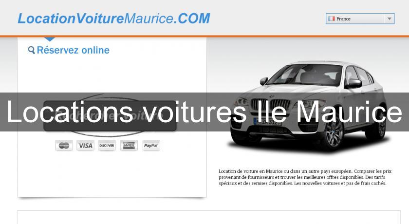 Locations voitures Ile Maurice