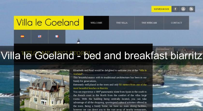 Villa le Goeland - bed and breakfast biarritz