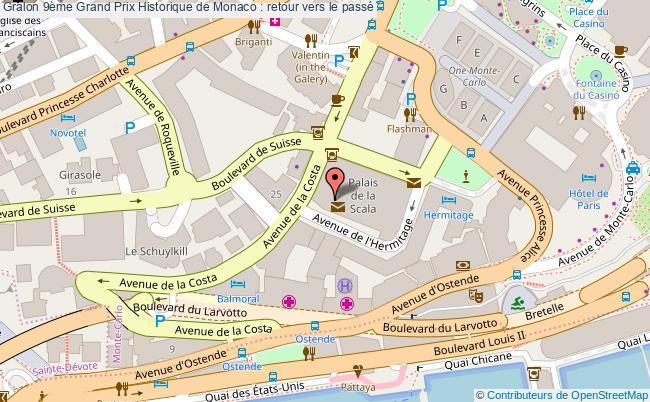plan 9ème Grand Prix Historique De Monaco : Retour Vers Le Passé