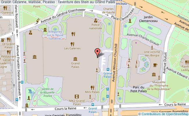 plan Cézanne, Matisse, Picasso : L'aventure Des Stein Au Grand Palais