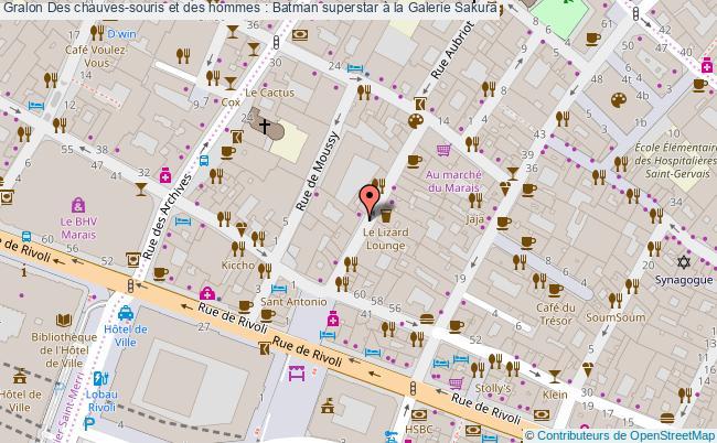 plan Des Chauves-souris Et Des Hommes : Batman Superstar à La Galerie Sakura