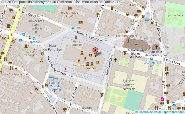 plan Des Portraits D'anonymes Au Panthéon : Une Installation De L'artiste Jr