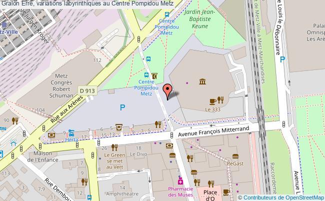 plan Erre, Variations Labyrinthiques Au Centre Pompidou Metz