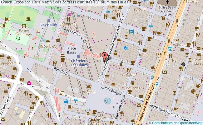 plan Exposition Paris Match : Des Portraits D'artistes Au Forum Des Halles