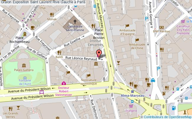 plan Exposition Saint Laurent Rive Gauche à Paris
