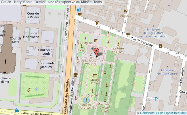 plan Henry Moore, L'atelier : Une Rétrospective Au Musée Rodin