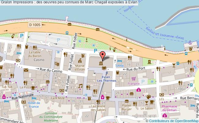 plan Impressions : Des Oeuvres Peu Connues De Marc Chagall Exposées à Evian
