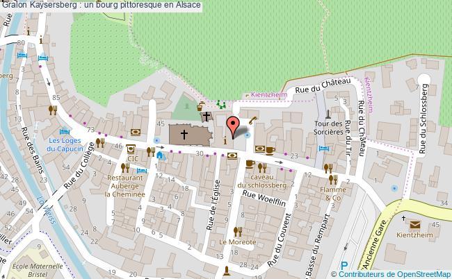 plan Kaysersberg : Un Bourg Pittoresque En Alsace