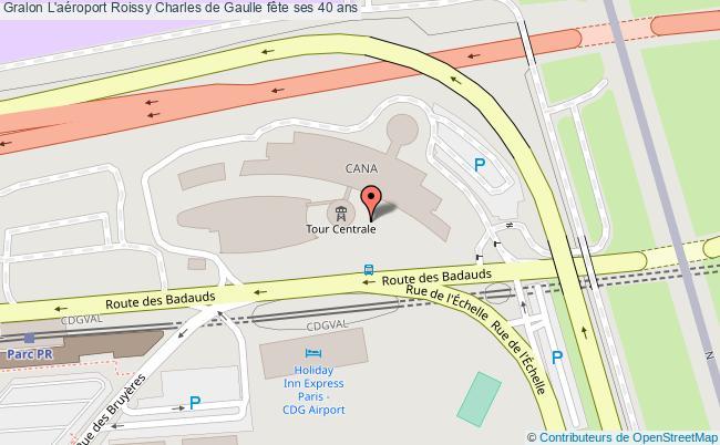 plan L'aéroport Roissy Charles De Gaulle Fête Ses 40 Ans