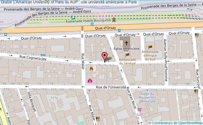plan L'american University Of Paris Ou Aup : Une Université Américaine à Paris