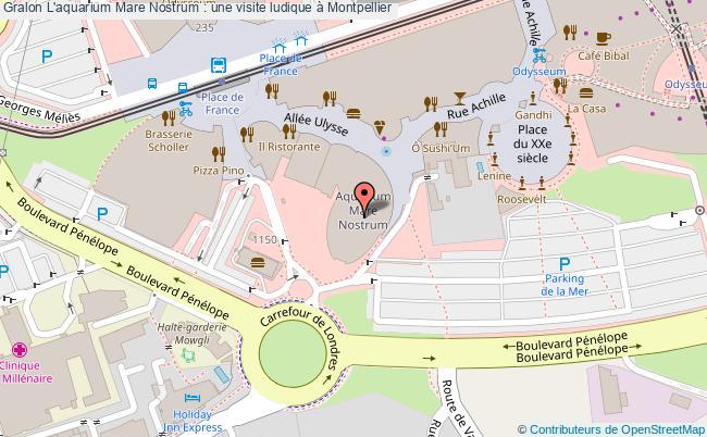 plan L'aquarium Mare Nostrum : Une Visite Ludique à Montpellier