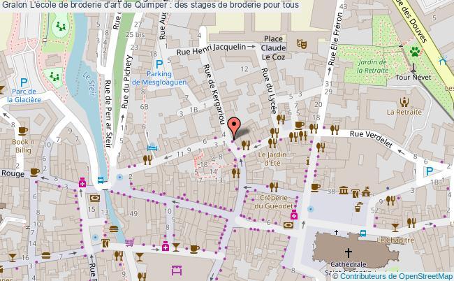 plan L'école De Broderie D'art De Quimper : Des Stages De Broderie Pour Tous