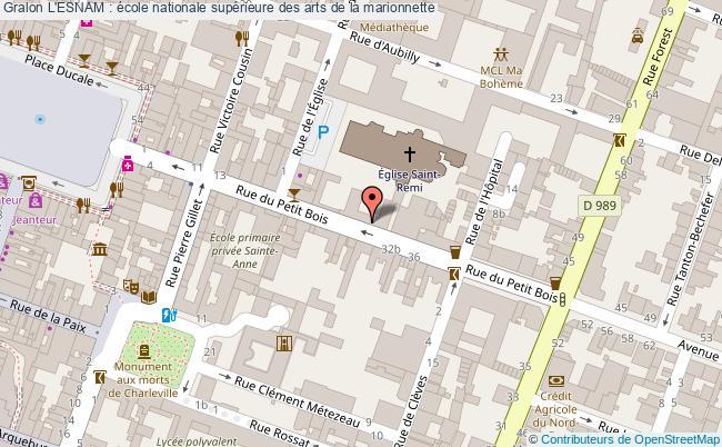 plan L'esnam : école Nationale Supérieure Des Arts De La Marionnette