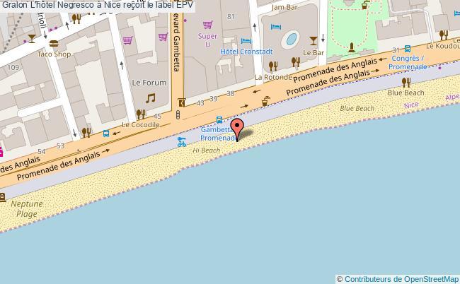 plan L'hôtel Negresco à Nice Reçoit Le Label Epv