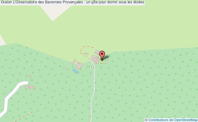 plan L'observatoire Des Baronnies Provençales : Un Gîte Pour Dormir Sous Les étoiles