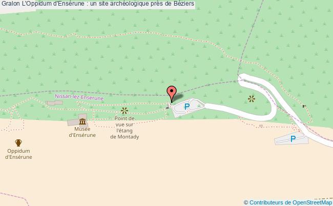 plan L'oppidum D'ensérune : Un Site Archéologique Près De Béziers
