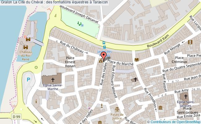 plan La Cité Du Cheval : Des Formations équestres à Tarascon