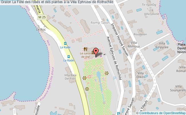 plan La Fête Des Roses Et Des Plantes à La Villa Ephrussi De Rothschild
