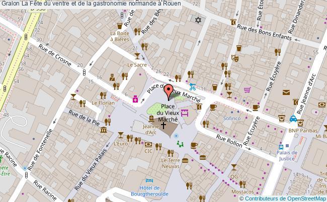 plan La Fête Du Ventre Et De La Gastronomie Normande à Rouen