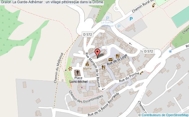 plan La Garde-adhémar : Un Village Pittoresque Dans La Drôme